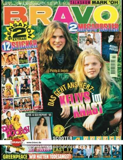 Bravo - 27/95, 29.06.1995 - Paddy & Angelo Kelly (Kelly Family) - Die Doofen -