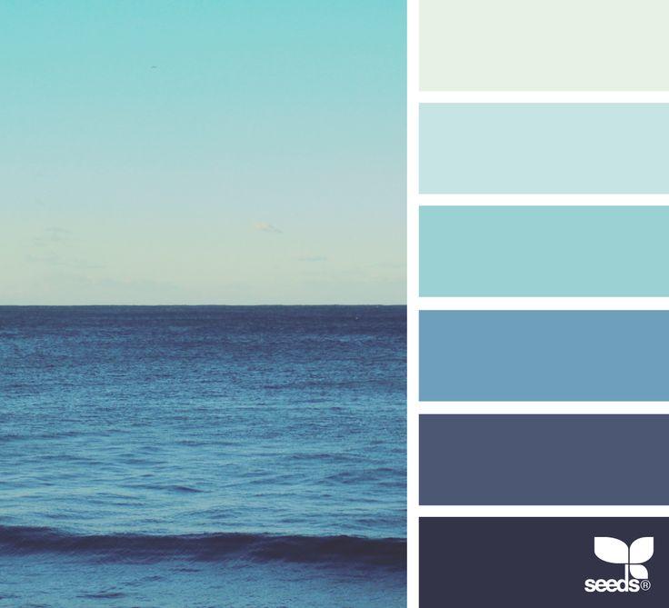 { sea blues } image via: @thebungalow22 #color #palette #designseeds #design #seeds #seedscolor
