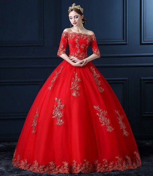 ... ROBE DE SOIRÉE MARIAGE ROUGE ORIENTAL BRODERIE  Robes, Weeding and