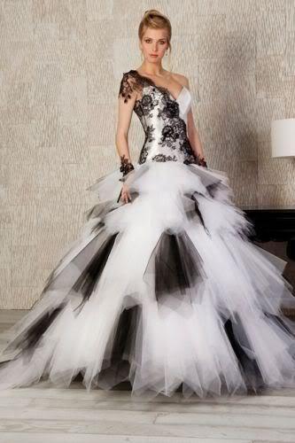 Black and white wedding dresses ebay