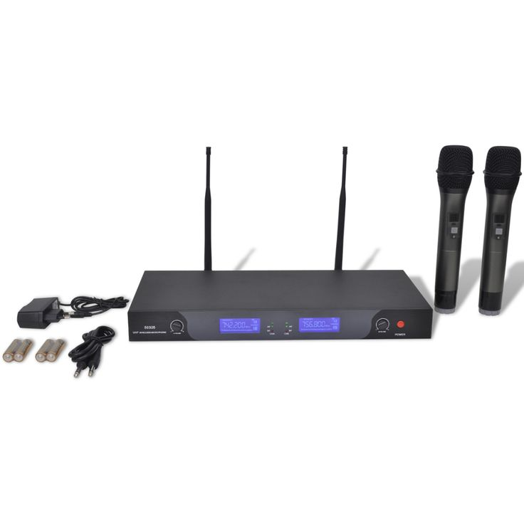 Bezdrátový mikrofonní systém UHF - přijímač se 2 mikrofony