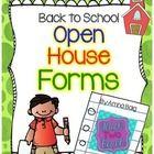 Open House/Meet the Teacher/Back to School Night  Parent Forms Freebie