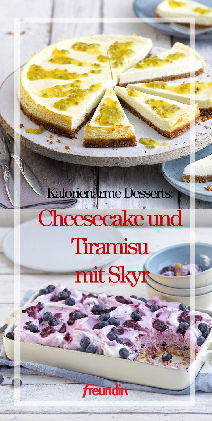 Kalorienarme Desserts: Cheesecake und Tiramisu mit Skyr