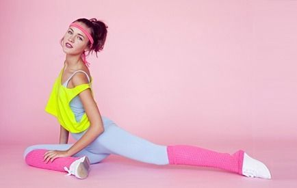 80's Inspired Workout...someone get me this outfit and i will totally wear it on throwback thursday!
