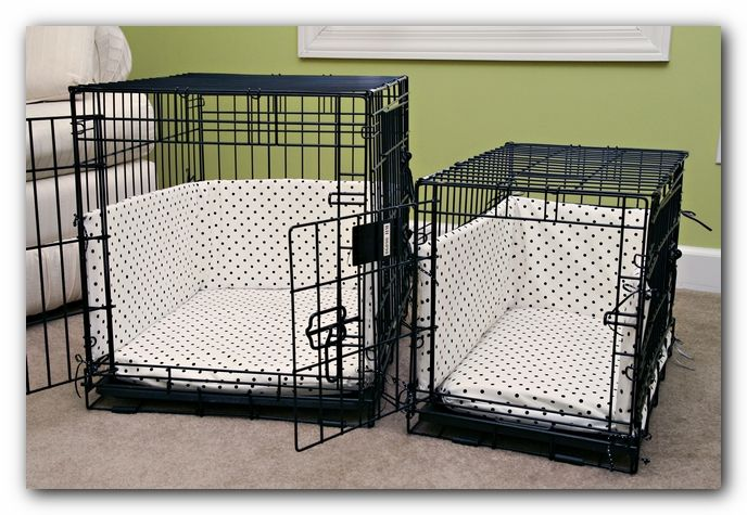 The Green Room - custom boutique dog crate covers, beds, and bumper pads tutorial directions instructions