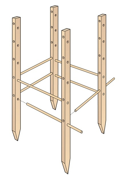 build a wooden tomato cage national home gardening club - Home Gardening Club