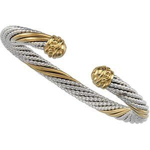 Elegant and Stylish 06.75 MM Cable Bracelet in Sterling Silver & 14K Yellow Gold, 100% Satisfaction Guaranteed. Banvari. $645.24. This product comes with a FREE contemporary Gift Box.. 30-day money back guarantee.. All our gold items are responsibly sourced and the majority is made from environmentally processed recycled gold.. Free Priority Shipping.. All diamonds used in our jewelry are conflict free and 100% in compliance with the Kimberly Code of Conduct.