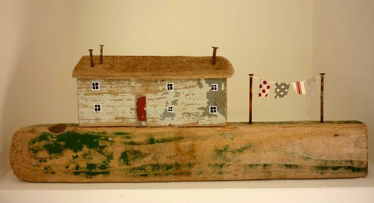 Cottage with washing line   -   Kirsty Elson Designs