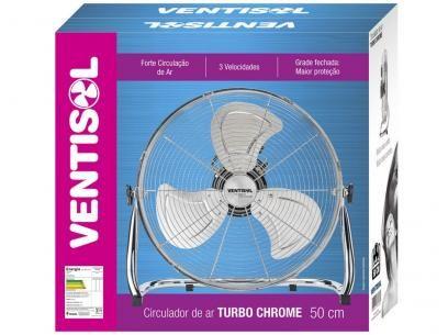 Circulador de Ar Ventisol Turbo Chrome - 43cm 3 Velocidades com as melhores condições você encontra no Magazine Raimundogarcia. Confira!