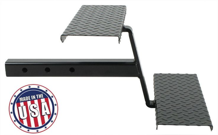 "Truck Bed Step- 2"" Receiver Hitch Stairs w/ Two steel Steps RV Slide In Camper…"