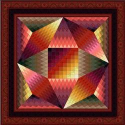 Jinny Beyer. Mayflowers kit. FREE PATTERN. Fabric from her line. $216. For advanced quilters.