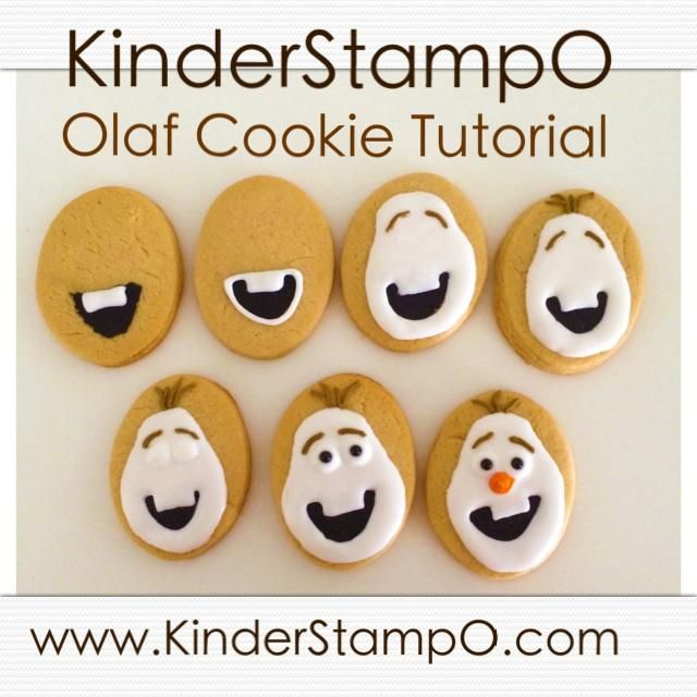 Olaf cookie tutorial for a frozen birthday party. make your own party treats.