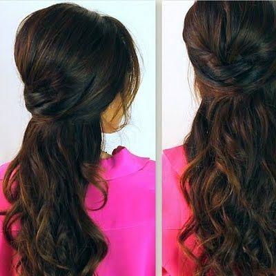 CrissCross Half-Updo |Long Hair Tutorial