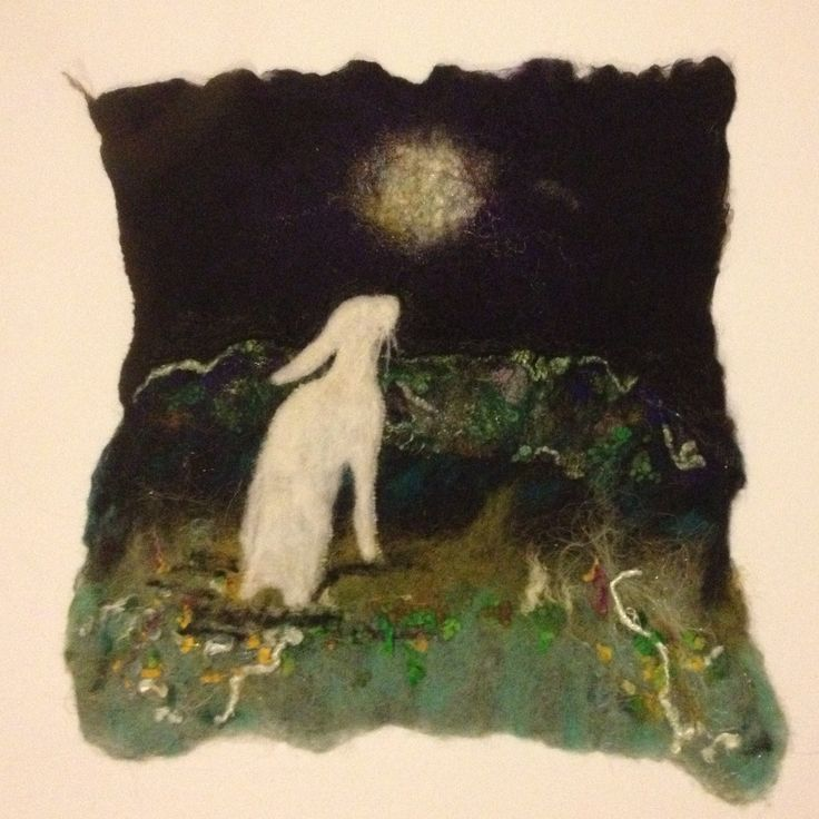 Hare and the moon Olann Álainn Fibre Arts Facebook and Etsy