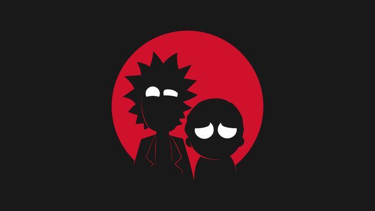 minimalist Rick and Morty wallpaper
