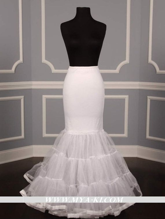 Hoopless mermaid medium crinoline petticoat available in for Mermaid slip for wedding dress