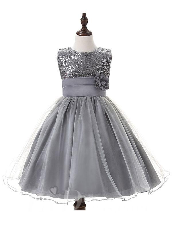 Gray Little kids Performance Dresses Style Lid1605051016