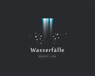 Die Wasserfalle Resort und Spa Logo Design