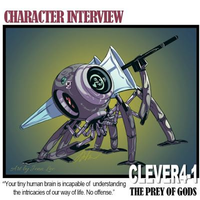 Alfonzo Words: Book Character Interview with CLEVER4-1 #ThePreyof...