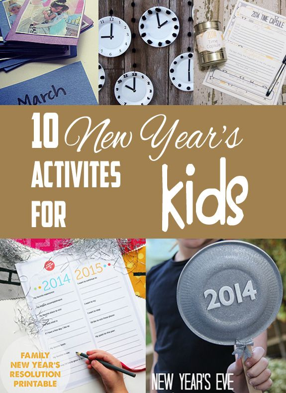 Great ideas for New Years Eve with kids