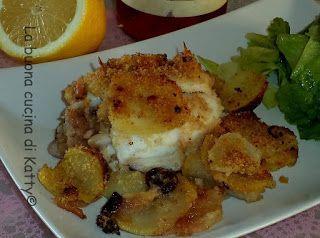 La buona cucina di Katty: Seppie ripiene al forno con patate alla palermitana - Stuffed squid with potatoes to Palermo