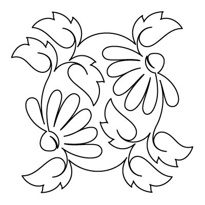 1 line drawing of flowers