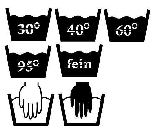 Plotter-Freebie Wäsche-Symbole
