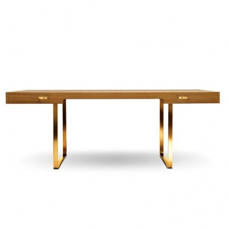 When I become famous, I shall have this Hans Wegner CH110 Gold Edition Desk. In the meantime, I think I'll spray paint my similar IKEA legs gold and find an oak desk top for it.