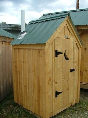 Details about Outhouse Working/Shed DIY Plans - Yard ...