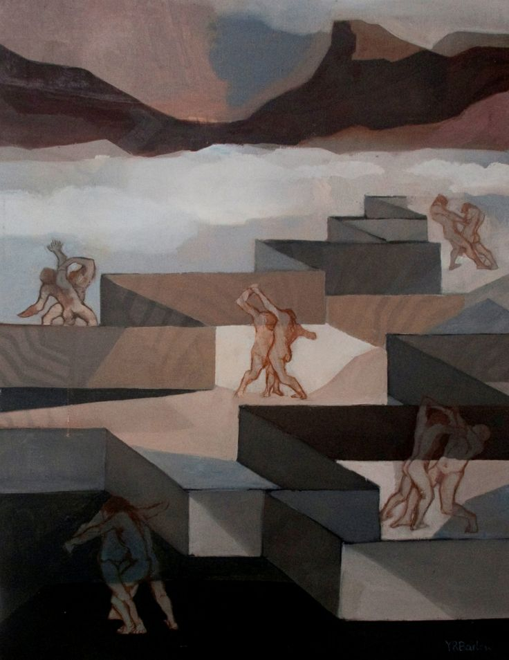 Mountain Wrestlers | Oil on Canvas | 20 x 24 inches | £4,000 | From 1983