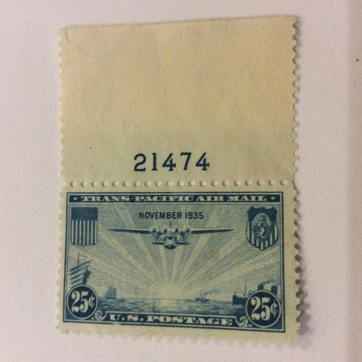 1935 China Clipper Flying Boat 25 Cent Stamp