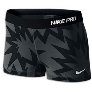 Nike Pro Womens Compression Shorts Black Pattern