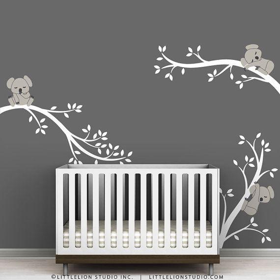Sticker Koala bébé gris blanc et chaud par par LeoLittleLion