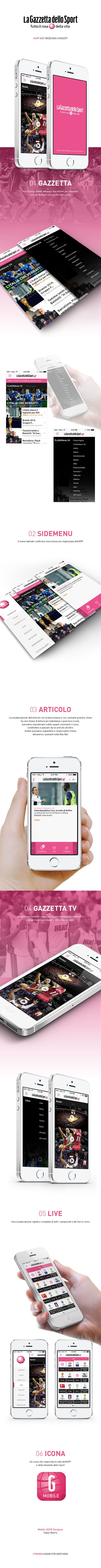 Gazzetta Mobile App, iOS7 Redesign Concept, by Fabio Murru, via Behance