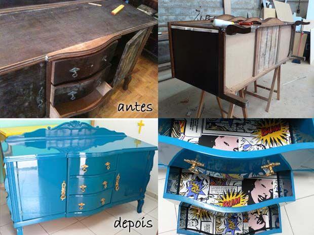 Ateliando - Customização de móveis antigos: Ateliando no Canal VIVA...
