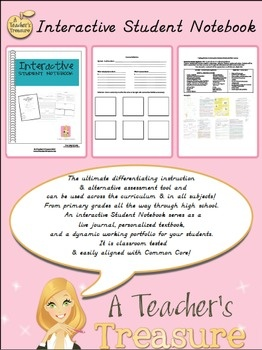 $14.99 The Interactive Student Notebook is the ultimate differentiating instruction