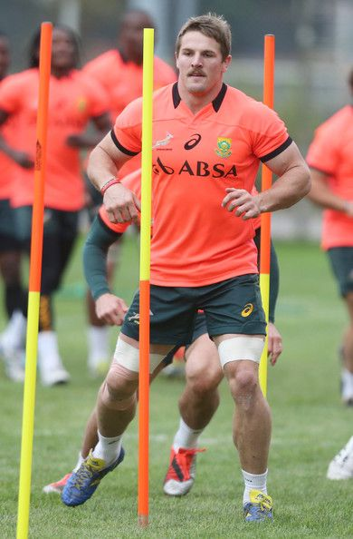 Jaco Kriel Photos Photos - Jaco Kriel of South Africa in action during the Springboks training session at Stadio Plebiscito on November 17, 2014 in Padua, Italy. - Springboks Training Session