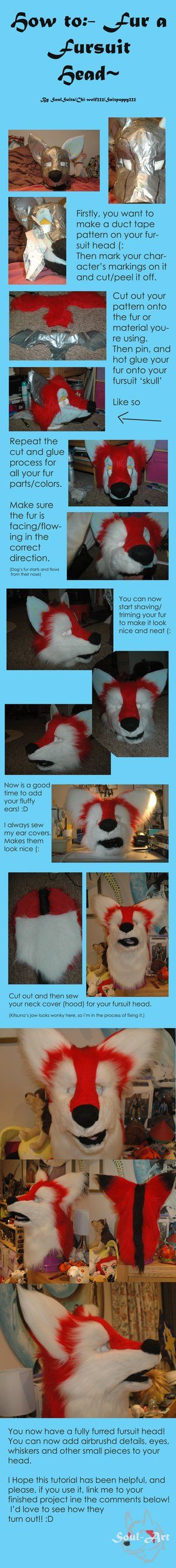 Furring a fursuit head- Tutorial~ by Saixpuppy222 on DeviantArt