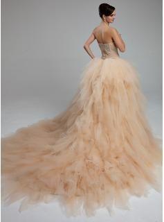 Свадебное Платье Бальное Платье Милая Sweep Поезд Атласная Тюль Свадебное Платье Кружева