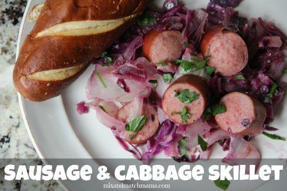 Sausage & Cabbage Skillet | Mix and Match Mama | Bloglovin'