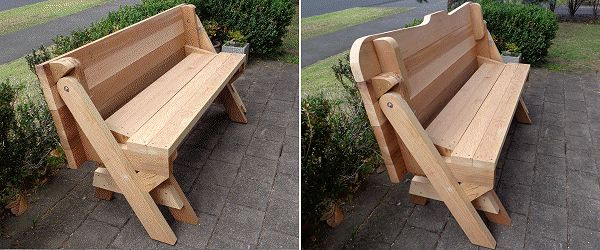 Folding picnic table with back-rest clip-on