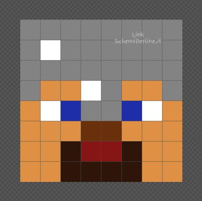 Armatura Di Catene Minecraft.Steve Di Minecraft Con L Armatura Di Ferro Schema Con I