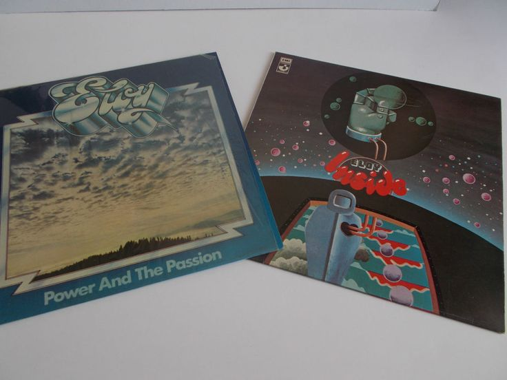 ELOY - INSIDE + POWER AND THE PASSION 2 VINYL RECORDS