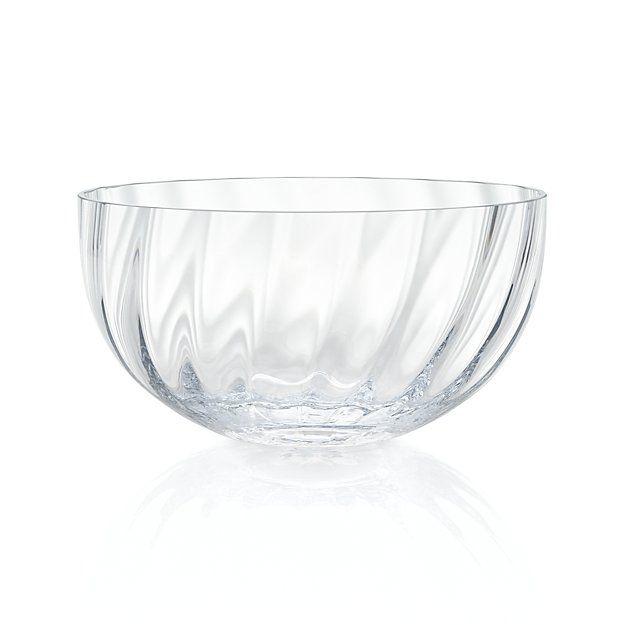 Julia Large Glass Serving Bowl   Crate and Barrel