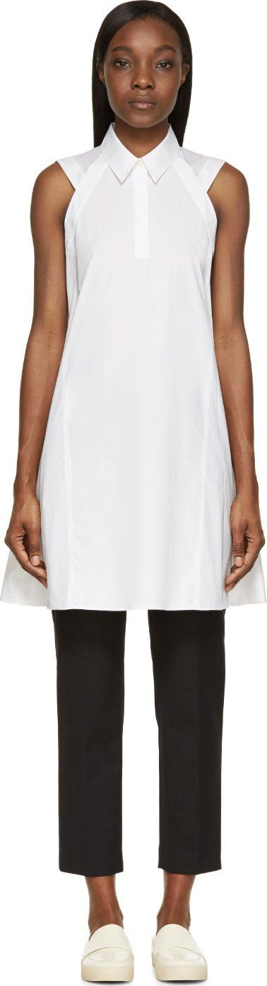 3.1 Phillip Lim - White Poplin Trapeze Dress