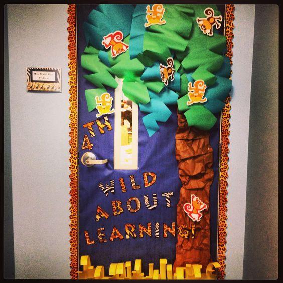 Jungle Safari Themed Classroom Door Decor - broken link, picture only
