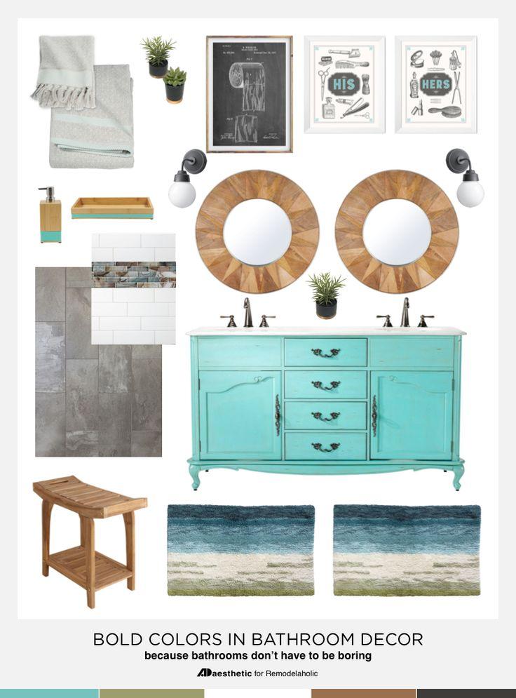 Bold Bathroom Color And Design