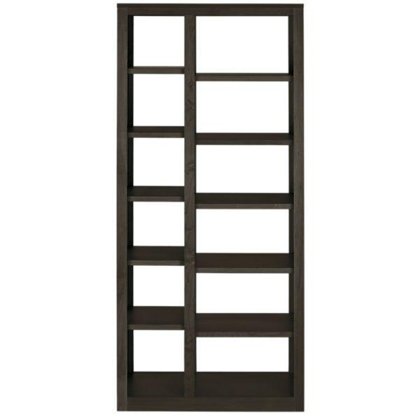 Room & Board - Woodwind 32w 17d 72h Double Narrow Open-Back Bookcase