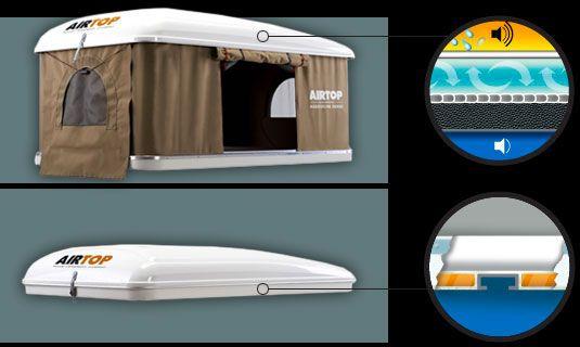 AirTop roof top tent technical characteristics