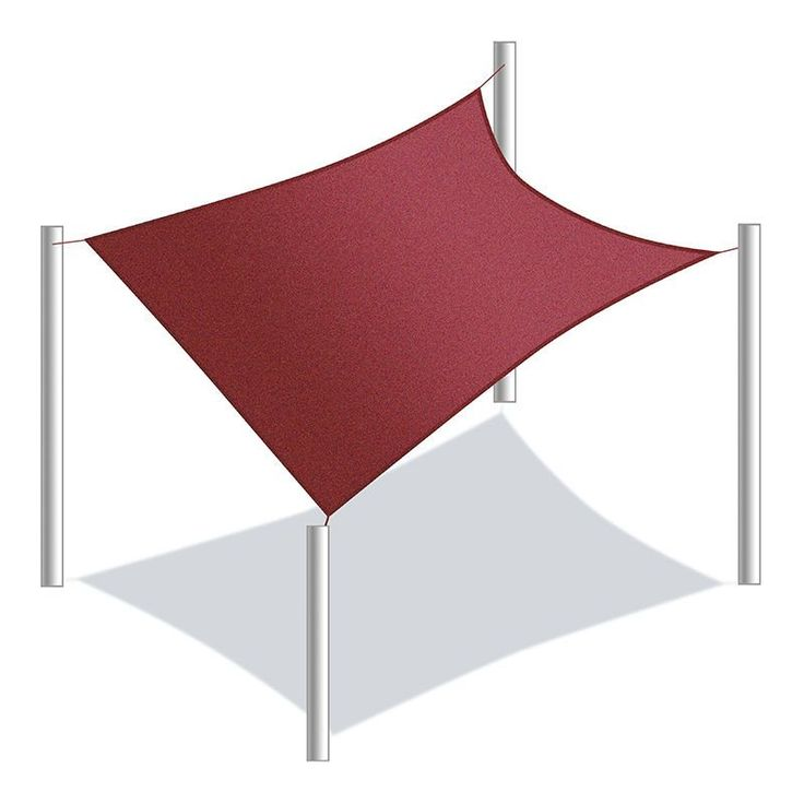 Aleko Rectangle 18 X 18 Feet Waterproof Sun Shade Sail Canopy Tent Replacement (Sand), Beige (Synthetic Fiber) #SS03REC18X18BG